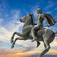 Thessaloniki - standbeeld Alexander de Grote
