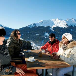 Alpenrösli Klosters zonneterras