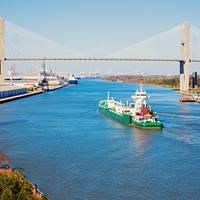 Talmadge memorial brug in Savannah