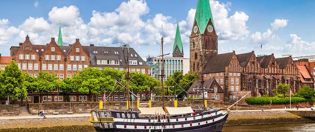 Bremen en de Weser rivier