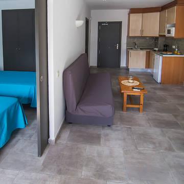 Voorbeeld woonkamer Appartementen Treumal Park