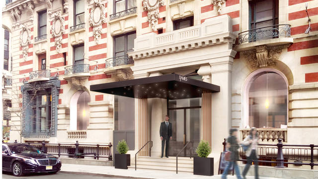 Voorzijde Hotel The James New York-NoMad (voorheen The Carlton)