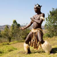 Afrikaanse Zulu danser