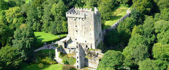 Blarney Castle vanuit de lucht