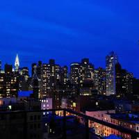 Uitzicht vanaf rooftop bar