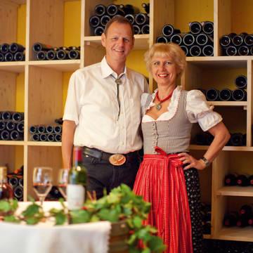 In de wijnkelder Hotel Alpbach