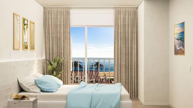 Voorbeeld slaapkamer Appartementen Venecia