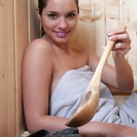 In de sauna