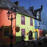 Kinsale gekleurde huisjes