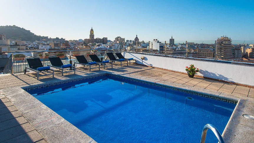 Zwembad Hotel Salles Malaga Centro