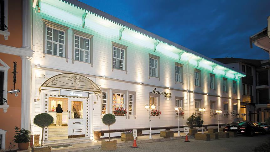 Voorzijde Hotel Avicenna
