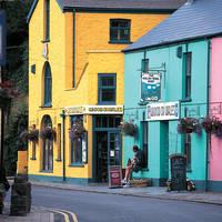 Gekleurde huisjes in Wales