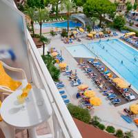 Balkon zwembadzicht