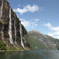 Geirangerfjord 'Seven Sisters' watervallen