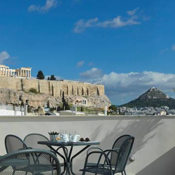 Dakterras, Acroplis Hill Hotel Acropolis Hill
