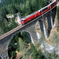 Bernina Express tussen Preda en Berguen