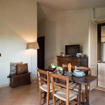 Voorbeeld woongedeelte Appartementen Valle di Assisi Resort