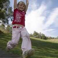 Meisje aan de trapeze