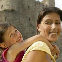 Rochester Castle moeder en kind