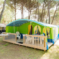 Rent-a-Tent voorbeeld Lodgetent Forest