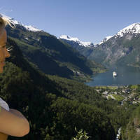 Geirangerfjord moeder en dochter