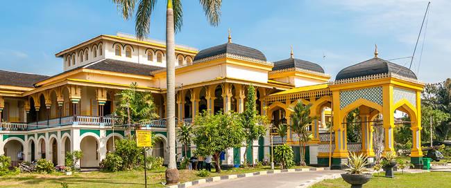Sultan's paleis Maimoon in Medan