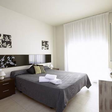 Voorbeeld slaapkamer Appartementen Aqquaria
