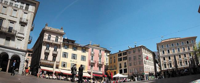 Lugano centrum