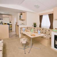 Voorbeeld woonkamer 4-kamerstacaravan