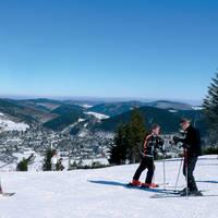 Aan het skiën