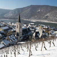 Rüdesheim am Rhein in de winter