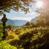 Keltisch Kruis in Glendalough, Wicklow Mountains