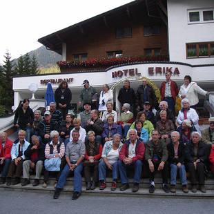Groep bij Hotel Erika