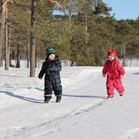 Kinderen in de sneeuw