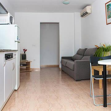 Voorbeeld woonkamer Apartotel Iris
