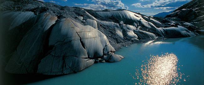 Rhone gletsjer Wallis