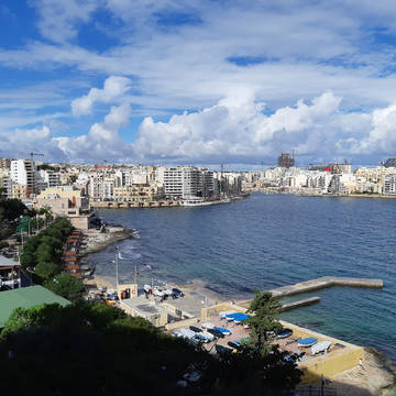 Uitzicht vanaf het hotel Plaza Hotel & Suites
