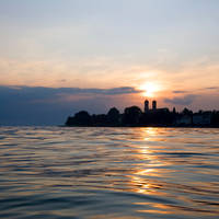 Zonsondergang Bodensee