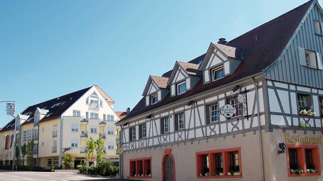 Vooraanzicht Hotel Traube am See