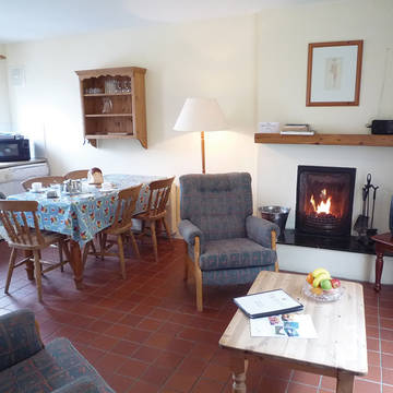 Keuken en woonkamer Glenbeg Point Vakantiewoningen