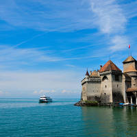 Chateau de chillon in Montreux