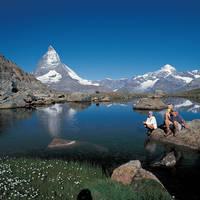 Zermatt familie bij het meer