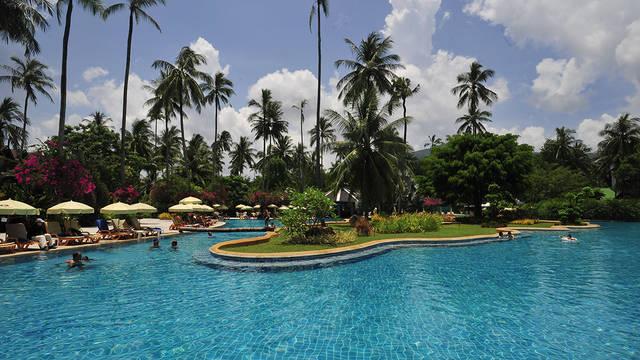 Zwembad met tuin Duangjitt Resort & Spa