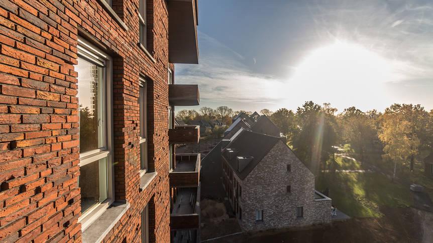 Uitzicht vanaf het balkon Dormio De Prins van Oranje