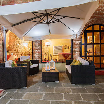 Zitgedeelte Country Hotel Borgo Sant'Ippolito