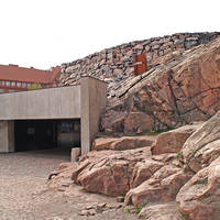 Helsinki - Ingang Temppeliaukiokerk