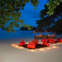 Strand in de avond