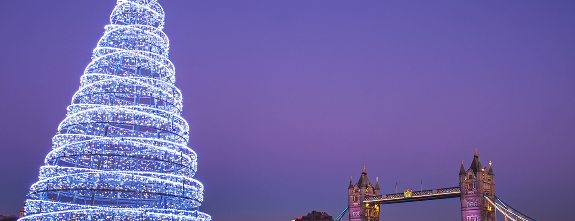 Londen Christmas Towerbridge