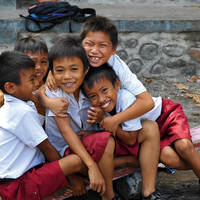 Indonesische schoolkinderen