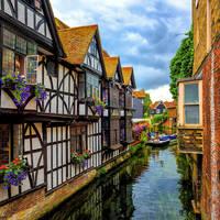 Canterbury - Medieval half-timber houses